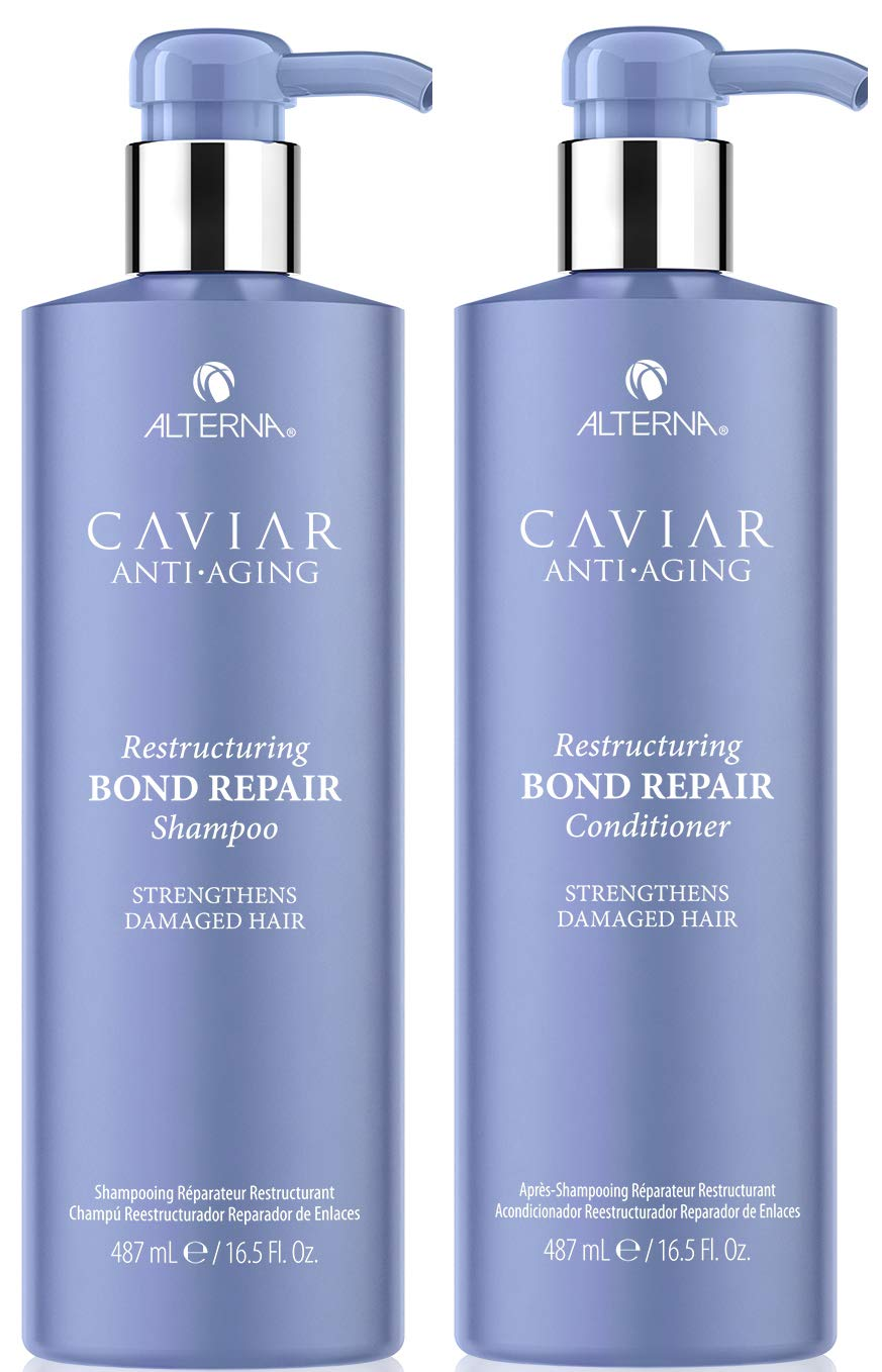 CAVIAR Anti-Aging Restructuring Bond Repair Shampoo and Conditioner Set, 16.5-Ounce by Caviar