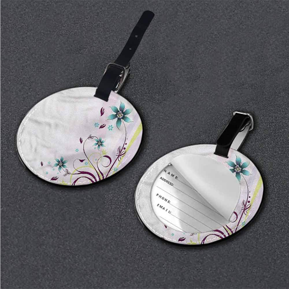 Personalized Floral,Nature Bloom Silhouette Address Tags