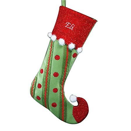 39621ede6 GiftsForYouNow Polka Dot Jester Personalized Christmas Stocking