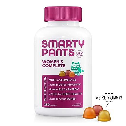 SmartyPants -Completa Multi de las mujeres + Omega 3s + vitamina K2 - 180 gomitas