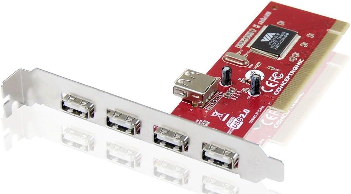 5 Puertos USB 2.0 Conceptronic C05-136 Tarjeta PCI