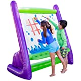 """HearthSong Giant Inflatable Indoor and Outdoor Easel with Paints, Sponges, Brushes, and Built-in Art Tray, 62"""" L x 38"""" W x 61"""