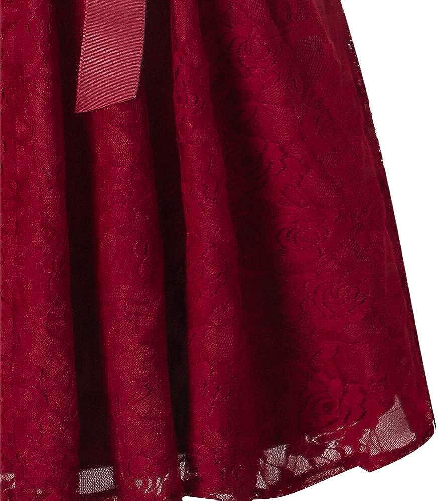 Rosennie Womens Dresses,Evening Dresses for Women Ladies Formal Dresses Elegant Vintage Sleeveless/Wedding Bridesmaid Lace Long Dress