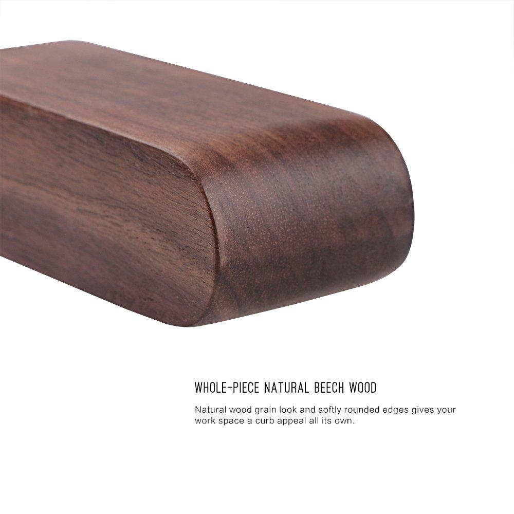 Braun OurLeeme Klassischer Visitenkartenhalter aus Holz mit einem Fach f/ür Namenskarten und Aufsteller f/ür Schreibtisch und Arbeitsplatte