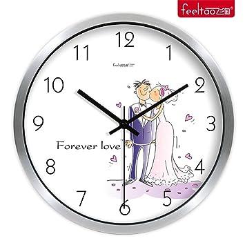 DIDADI Wall Clock Verzierende Ideen Hochzeit Uhren Mute Schlafzimmer  Wohnzimmer Wanduhr Quarzuhr 12 Zoll