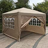 Z ZTDM 10' X 10' Pop Up Canopy Tent for Outdoor Wedding Party Event BBQ, with 4 Removable Sidewalls,Sunshade Snow Shelter Waterproof Folding Heavy Duty