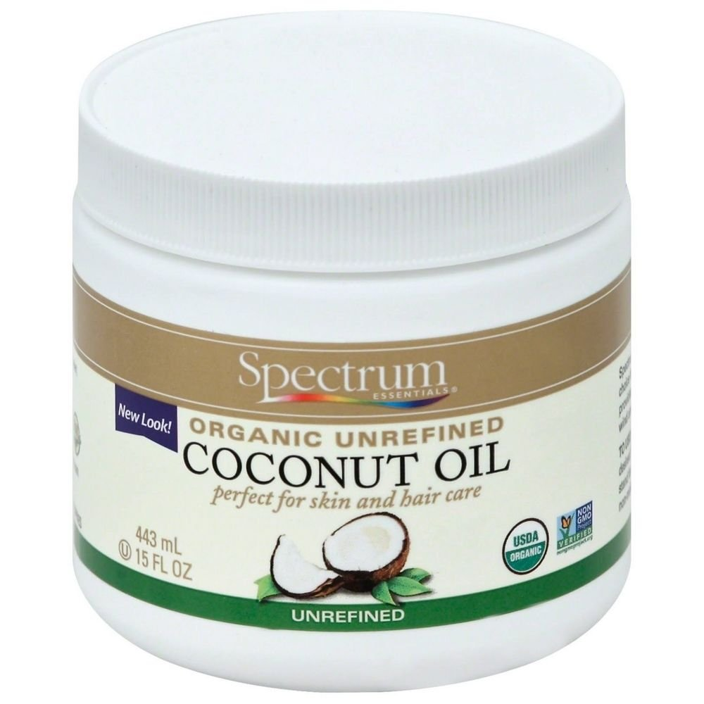 Spectrum Essentials Organic Unrefined Coconut Oil, 15 Fluid Ounce
