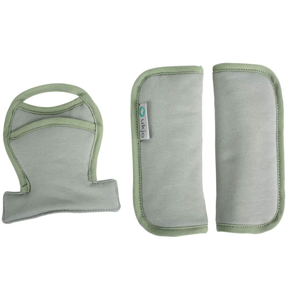 Coussinets de protège ceinture universel pour siège auto (Maxi-Cosi, Cybex, Joie, Stokke) et poussette ♥ Kaki