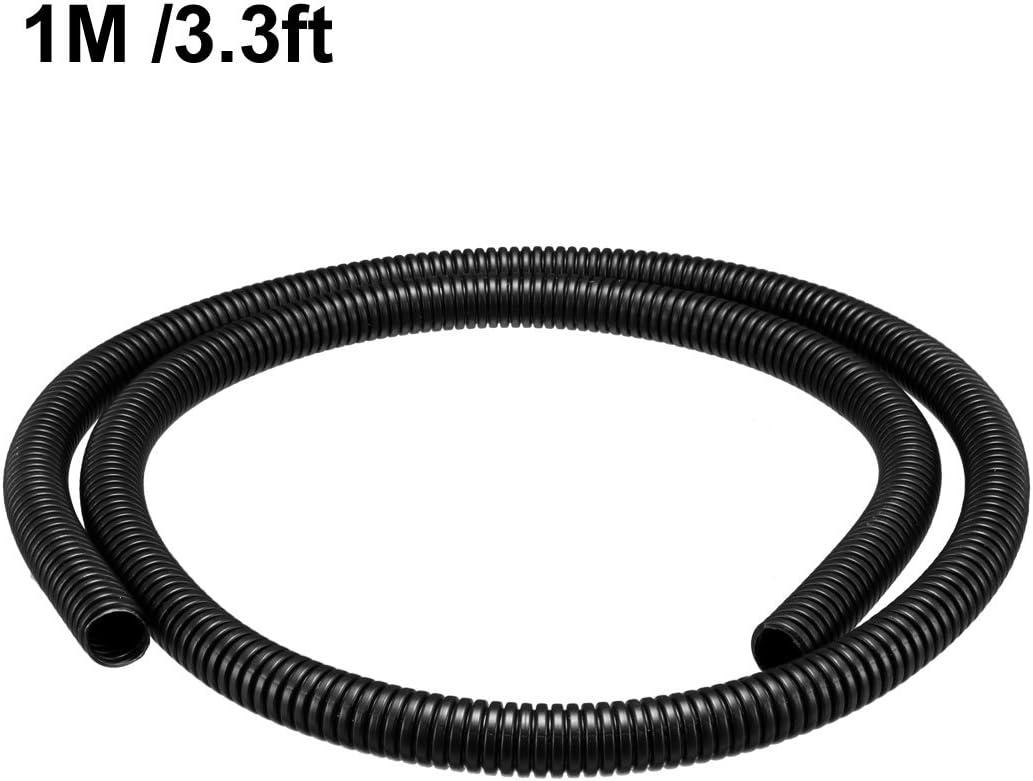 Wellrohr Rohrleitung elektrische Verdrahtung Schwarz 13M 18,5mm Außendurchmesser