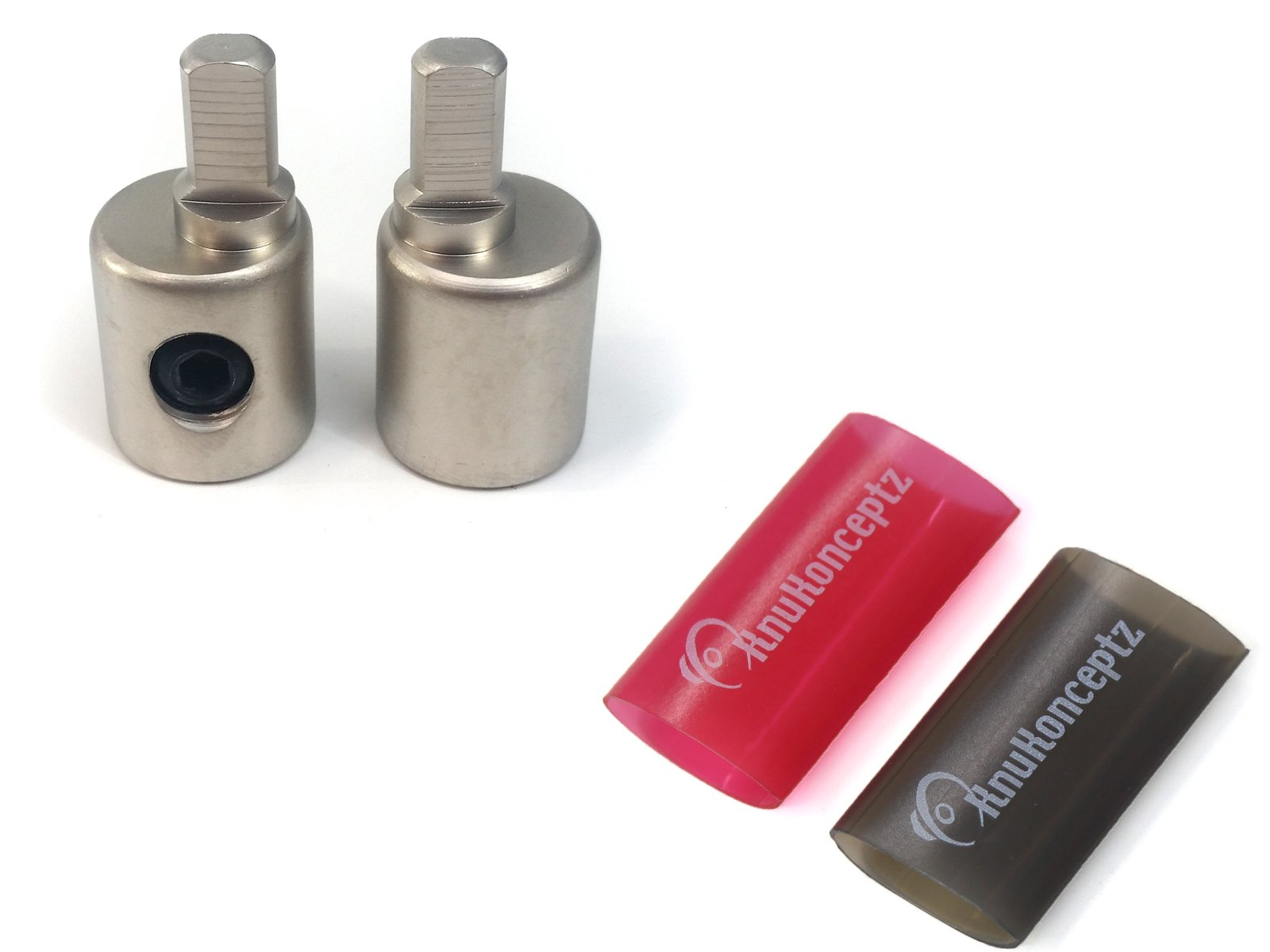 KnuKonceptz Offset Power/Ground Input Wire Gauge Reducer 0-4 Gauge 1/0 Pair with Heat Shrink
