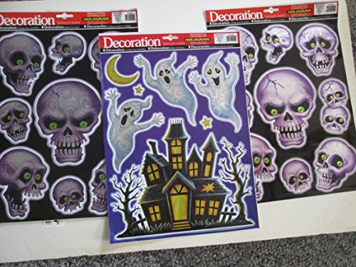 IMPCT/WZLGREENS 1 Halloween Ghosts & 2 Skulls Hologram
