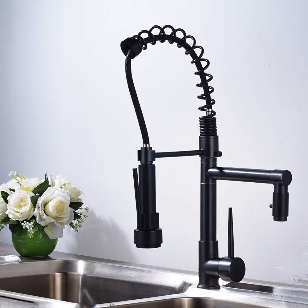 Decorry Dual Auslauf Küchenarmaturen 360 Grad-Umdrehung Frühling Ziehen Sprayer Hand Deck Montiert Spüle Wasserhahn Mischbatterien