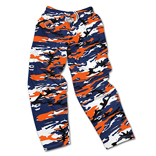 NFL Chicago Bears Men's Zubaz Camo Print Team Logo Casual Active Pants, XX-Large, (Team Logo Print)