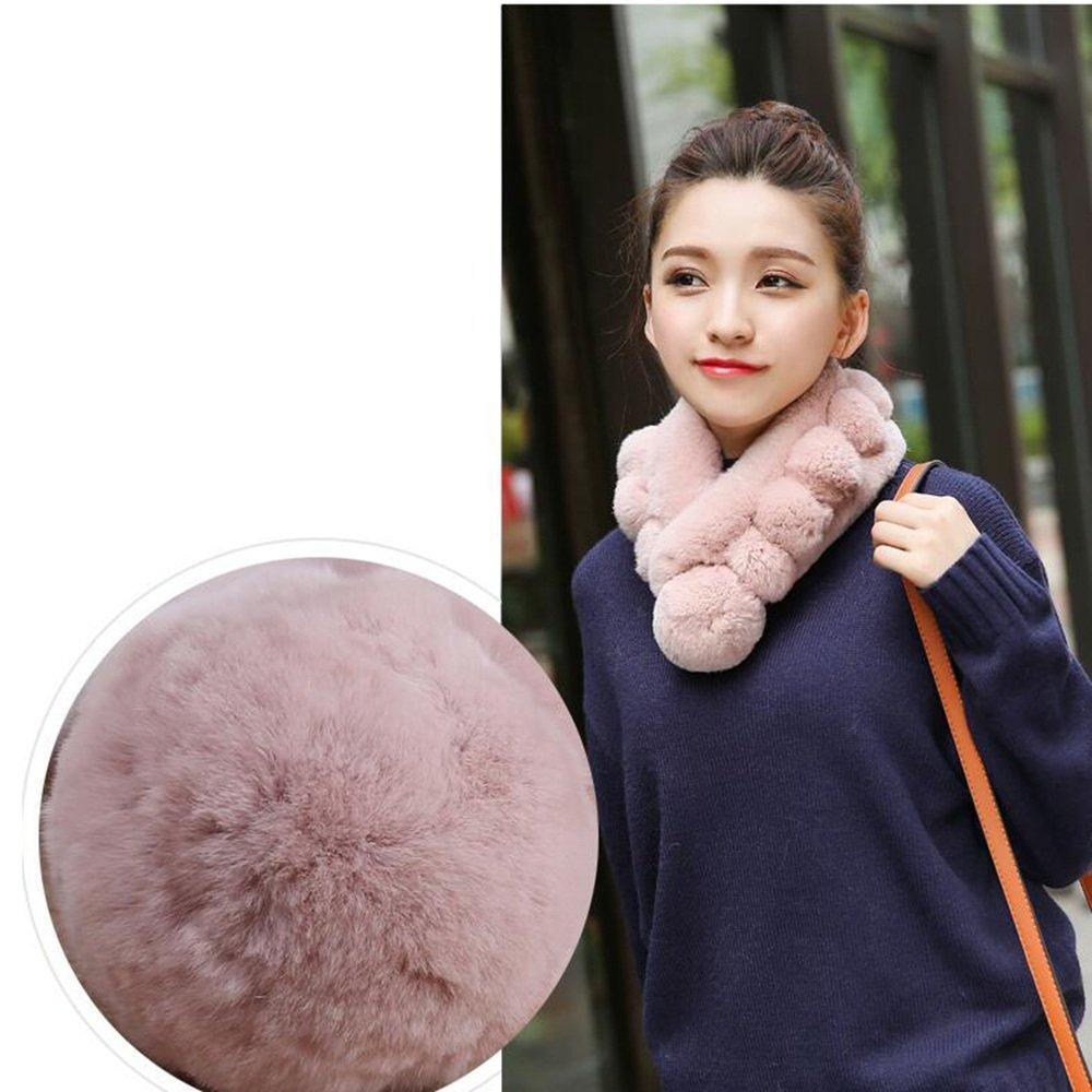 MEIDUO Sciarpa invernale Sciarpa Colori d'autunno in inverno scaldano per le signore Studente confortevole Warm Fashion L63 * W12cm ( Colore : Rosa )