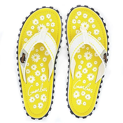 Gumbies jaune pour blanc jaune femme Tongs pPZwPrqY
