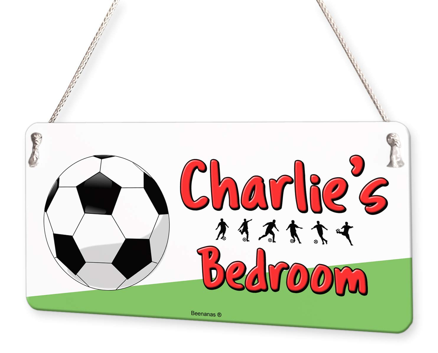 Football Soccer Personalised Childs Bedroom Door Sign Name Plaque