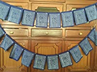 Tibetan Prayer Flags Solid Blue Color Medicine Buddha Healing Prayer flags Flags