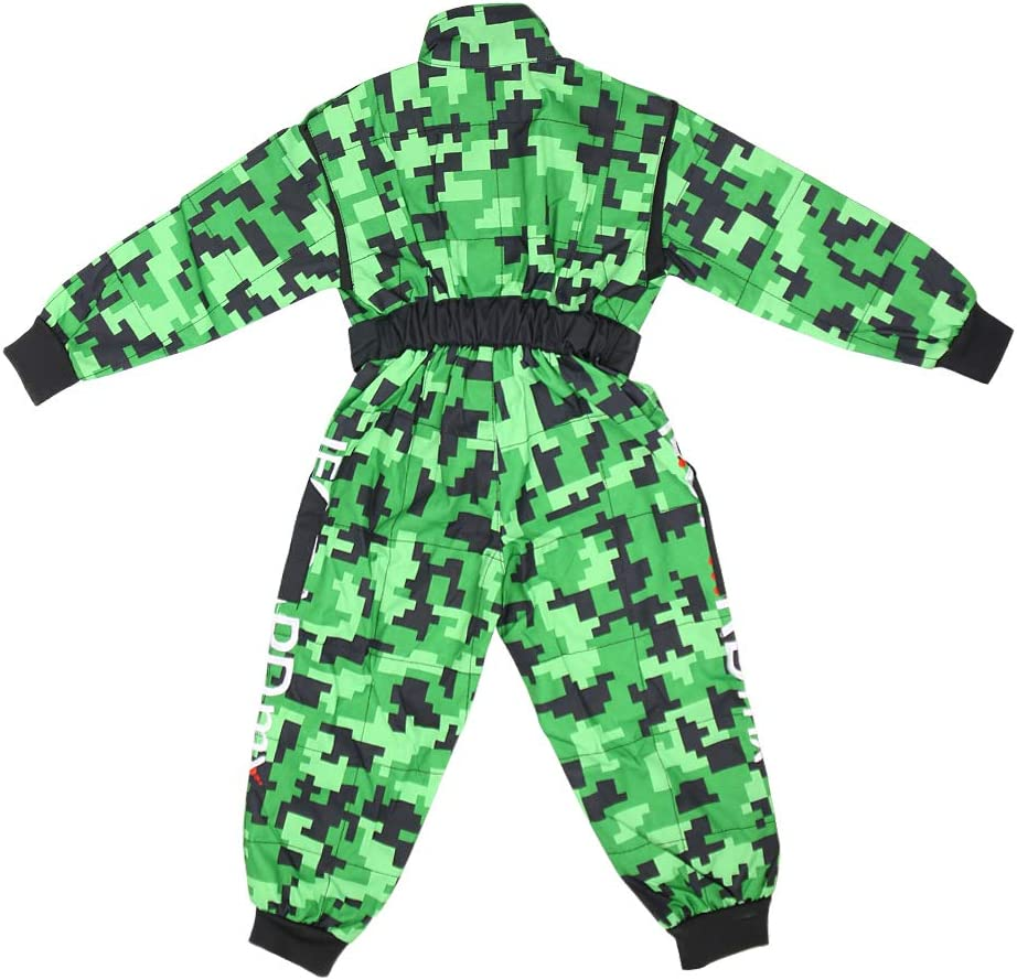 /& Goggles /& Camo Motocross Suit Jacket /& Gloves XL 8cm XL 55cm L 9-10 Yrs Leopard LEO-X16 Green Kids Motocross Helmet