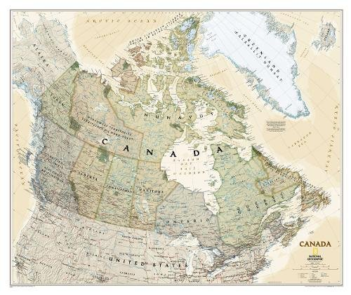 Canada Executive Wall Map (38 x 32 inches) (National Geographic Reference Map) ()