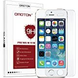 iPhone SE Screen Protector, OMOTON iPhone SE 5S 5 5C Tempered Glass Screen Protector [Full Screen Protection] [Scratch Resist] [No-Bubble] [Anti Crack] [9H Hardness] [Oil Resist] [Crystal Clear]