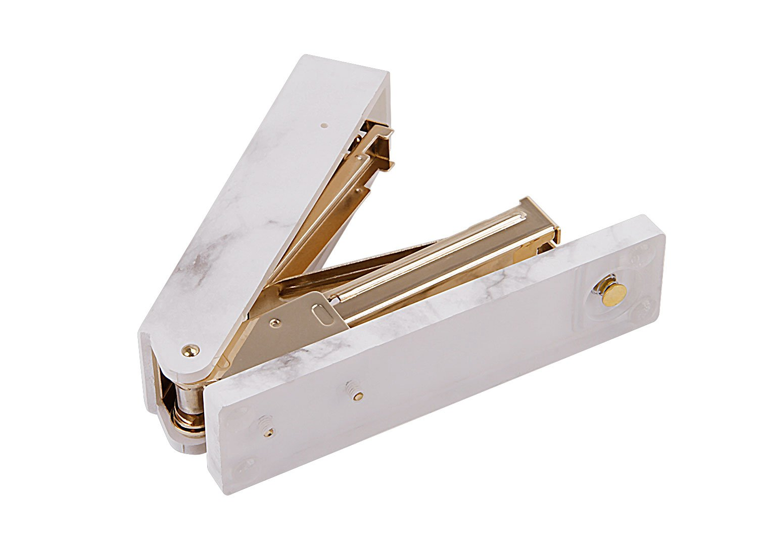 Heavy Duty Marble Stapler with Anti-Skip Pad School Office Must Sationary,Medium Manual Binding Stapler, Suitable for Staples 24/6,26/6 by BXT (Image #5)