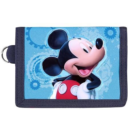 Cartera de Niño Disney Mickey Mouse - Monedero con Estampado Frontal Ratón Mickey - Billetera roja