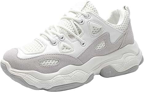 Zapatillas De Trail Running para Mujer Sneakers Deportivas Transpirables Casual Zapatos para Correr Blanco 38 EU: Amazon.es: Zapatos y complementos
