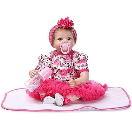 Muñeca Grande Chica de Silicona Suave con Ropa de imitación para niños Regalo de cumpleaños Maternidad
