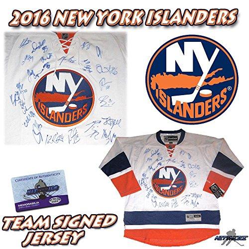 New York Islanders Team Jersey - 2016 NEW YORK ISLANDERS Team Signed REEBOK JERSEY w/COA - TAVARES - Autographed NHL Jerseys