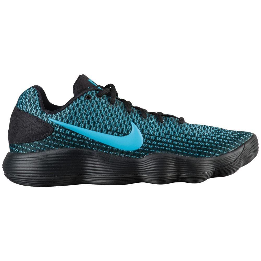 NIKE Men's Hyperdunk 2017 Low Basketball Shoe Black B06W56JJF5 11.5 M US|Black/Chlorine Blue