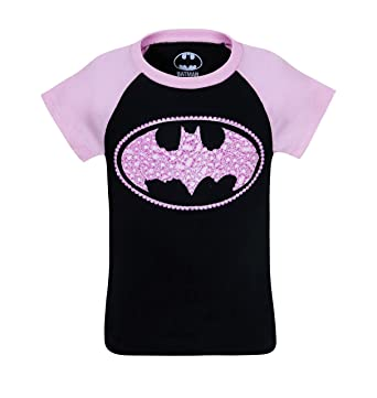 Amazon.com: Batgirl Kids Sugar Glitter Symbol T-Shirt: Clothing