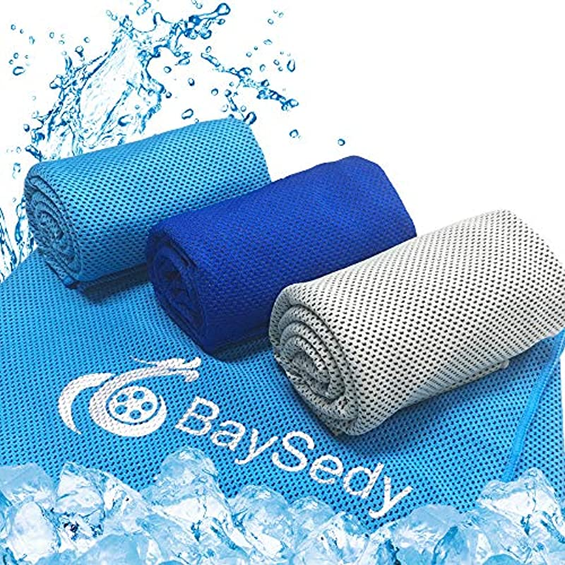 BaySedy 냉감타올3 매세트 열사병 대책 더위 대책 상품 100×30cm 스포츠용 수납 가방 부착 BSDCT302