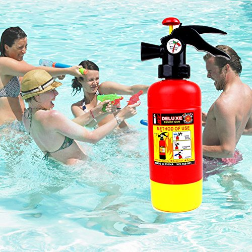 EITC Fire Extinguisher Toys Water Gun Spray Outdoor Fun Great Gift for Kids Children Gift]()