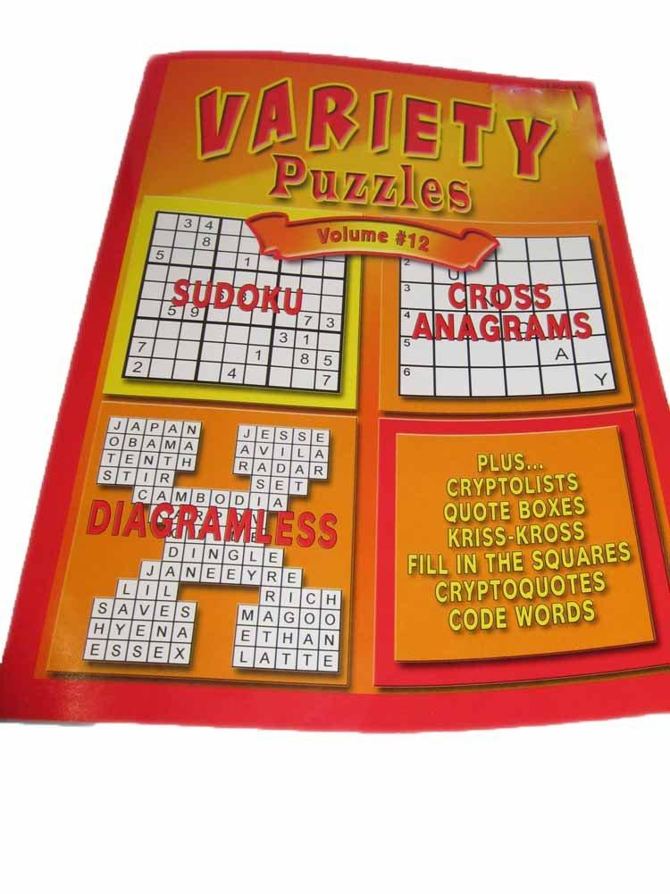 Buy Variety Puzzles Volume #12: Sudoku Cross Anagrams