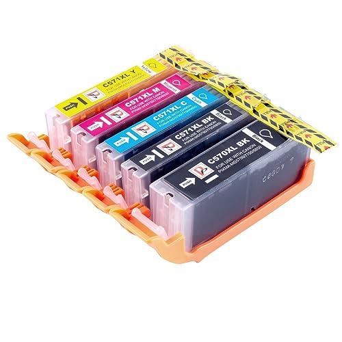 PerfectPrint Compatible Ink Cartridge Replacement for Canon PIXMA MG5750 MG6850 MG5751 MG6851 MG5753 MG5752 MG6852 MG6853 MG5700 MG6800 TS6050 TS6052 TS6051 TS5050 TS5055 TS5053 MG7751 (5-Pack)