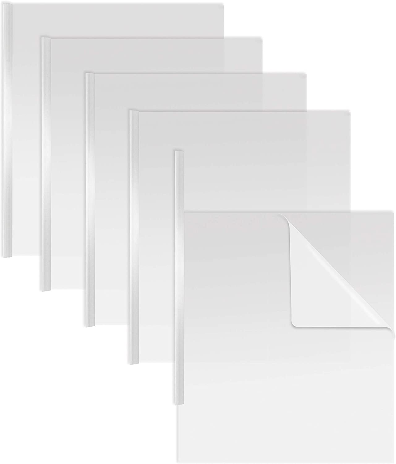 Sliding Bar Clear Report Covers, 50 Per Box, White Slider Bars, Durable 5 mil Poly Thickness, Letter Size, by Better Office Products, Transparent Report Covers with White Slider Bars, Box of 50 : Office Products