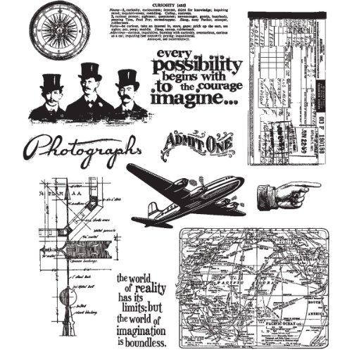 Stampers Anonymous - Tim Holtz - Cling Mounted Rubber Stamp Set - Warehouse District by Stampers Anonymous