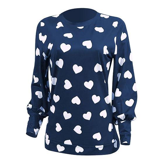 Dingcaiyi Tallas Grandes Camisas Mujer, Blusas para Mujer Moda Tops Camisetas de Manga Larga Blusas