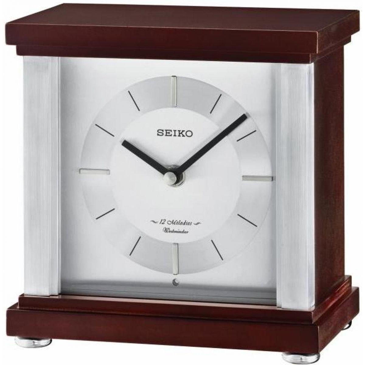Seiko Melodie 12-Orologio Westminster da Camino in Legno, Legno, Colore: Marrone QXW247B