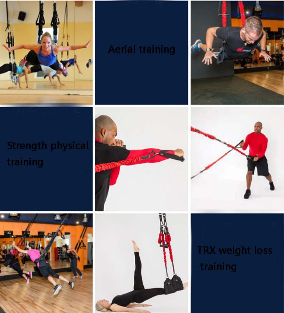 YNXing Aerial vitality bungee rope| resistance rope |air yoga stretch belt |yoga rope fitness vitality rope for Men and Woman by YNXing (Image #5)