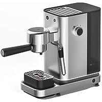 WMF Lumero Siebträger Espressomaschine (1400 Watt, mit 3 Einsätzen, für 1-2 Tassen Espresso, auch für Pads, 15 bar, Tassenabstellfläche, Milchaufschäumdüse)