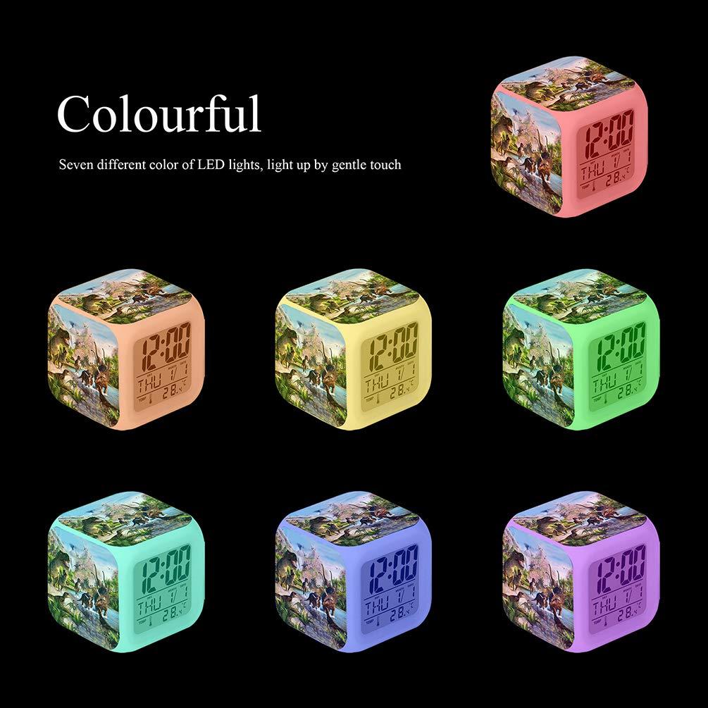 Amazon.com: Cointone - Reloj despertador LED con diseño de ...