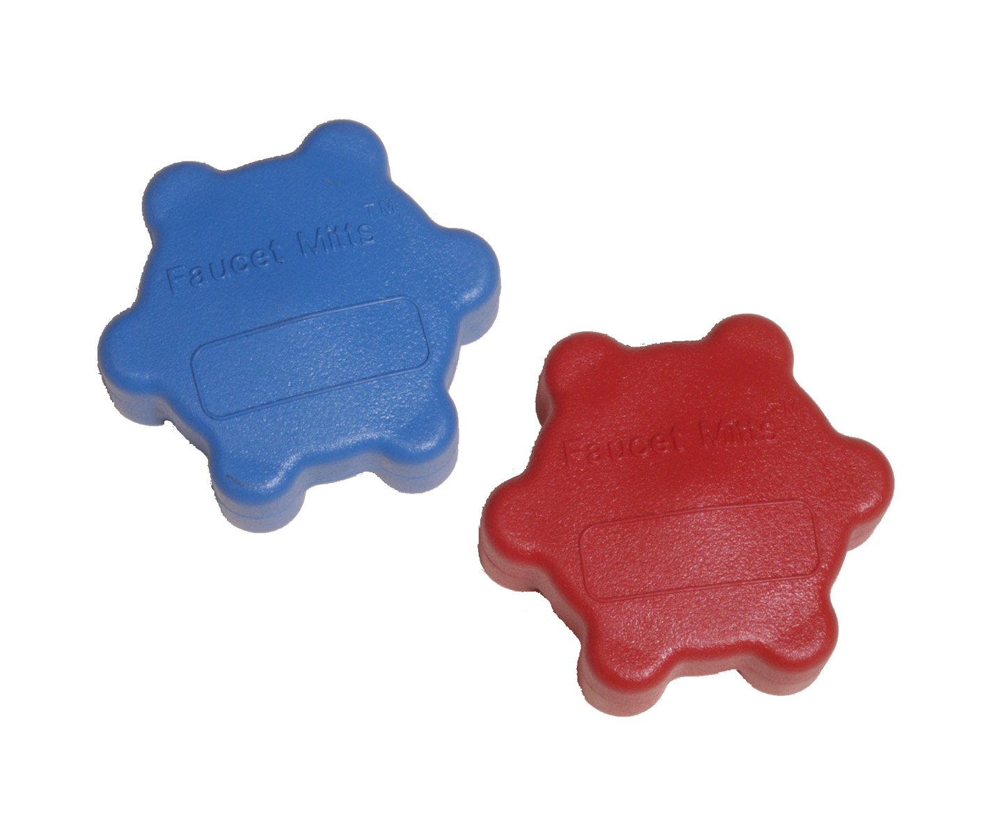 Red//Blue Superior Tool 03997 Faucet Mitts-Snap on Handles for 1//2 and 3//4 Inch Valves