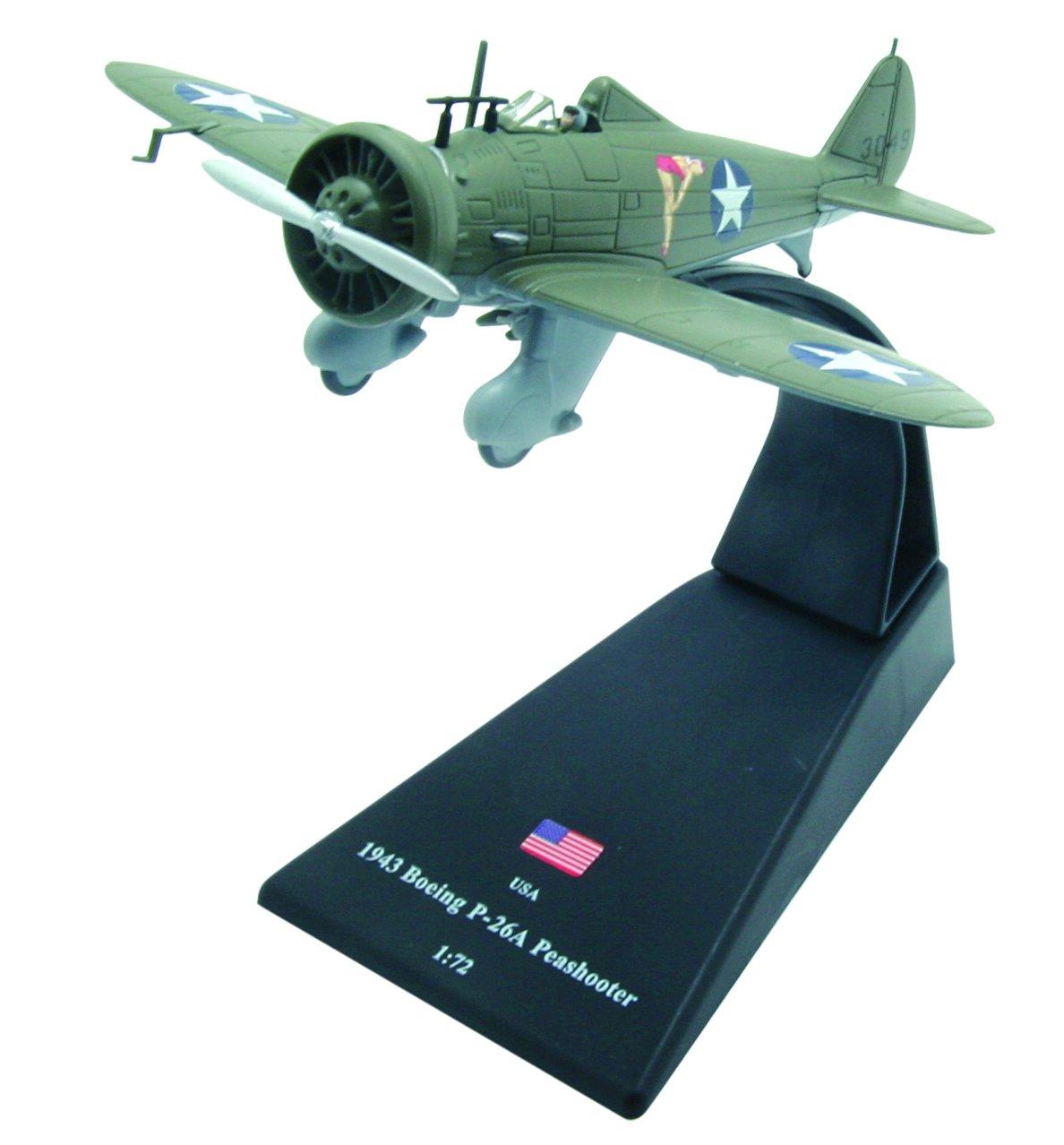 Boeing P-26A Peashooter diecast 1:72 fighter model Amercom SL-49