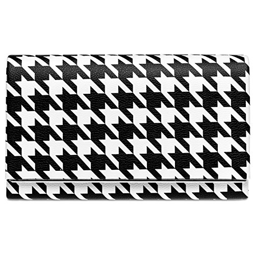 Black Ladies and with Bag Design Elegant Black Evening CASPAR Houndstooth White White TA425 50ies Retro Clutch Hwzf1x