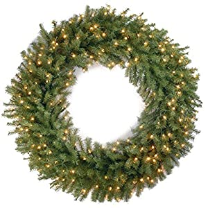 National Tree 48 Inch Norwood Fir Wreath with 200 Clear Lights (NF-48WLO) 40