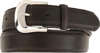 Tony Lama Mens Longhorn Leather Dress Belt Reg And Big Black 46