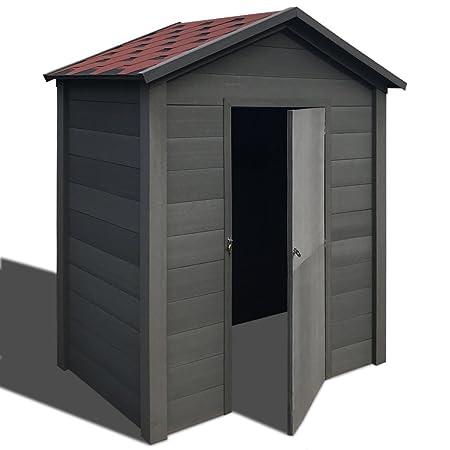 Wondrous Vidaxl Garden Storage Shed Wpc 178X118X237Cm Grey Outdoor Best Image Libraries Barepthycampuscom