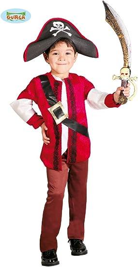 Guirca 82648 - Disfraz de Pirata para niño de 7/9 años, de Color ...