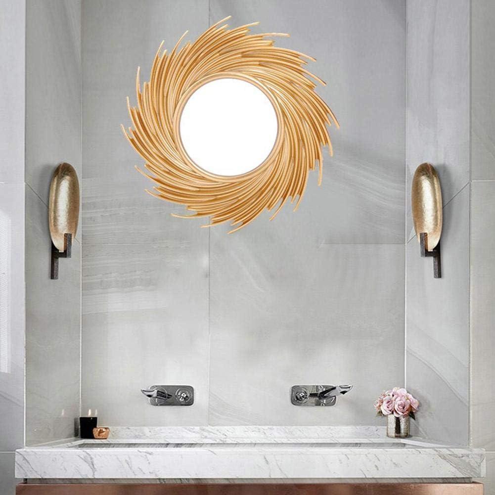 Art De Mur De Miroir De Soleil Nordique G/éom/étrique De Bord dor De 10 Pouces G/éom/étrique pour La Salle De Bains De Toilette Excitement Rlorie Miroir Mural